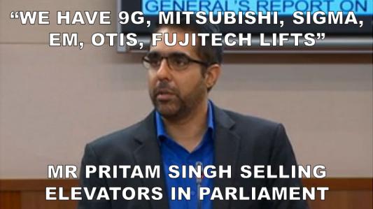 Pritam the lift salesman png