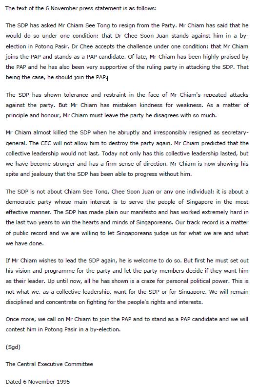 SDP Letter 1